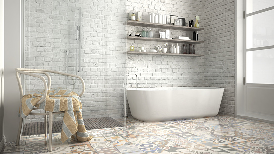 tile cleaning, tiled bathroom